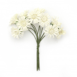Bouquet of artificial flowers for decoration 20x90 mm color champagne - 10 pieces