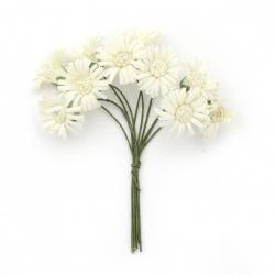Buchet de flori  culoare șampanie 20x90 mm -10 bucăți