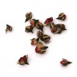 Φυσικά αποξηραμένα μπουμπούκια  τριαντάφυλλο 10 ~ 15 mm -10 γραμμάρια