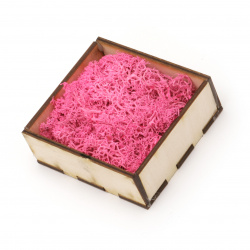 Scandinavian polar moss for decoration,  pink - 10 grams