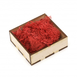 Scandinavian polar moss for decoration,  color red - 10 grams