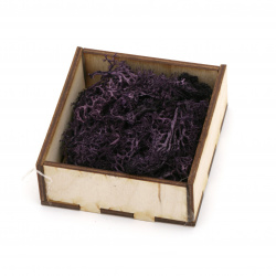 Scandinavian polar moss for decoration,  dark purple - 10 grams