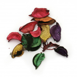 Dry leaves for decoration assorted colors ~ 25 grams