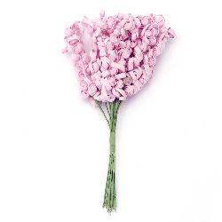 Λουλούδια 15x80x160 mm ροζ -10 τεμάχια