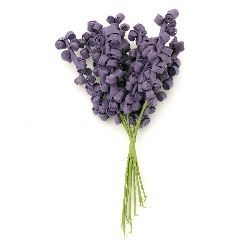 Flower bouquet 15x80x160 mm rubber and wire, purple -10 pieces