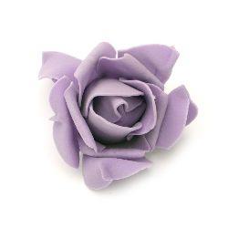 Цвят роза 70x45 мм гума лилава -5 броя