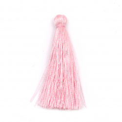Fabric Tassel 50x5 mm color pink - 10 pieces