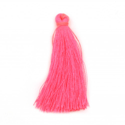 Fabric Tassel 50x5 mm color pink electric - 10 pieces