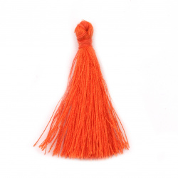 Fabric Tassel 50x5 mm orange color - 10 pieces