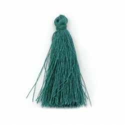 Fabric Tassel 50x5 mm color blue-green - 10 pieces