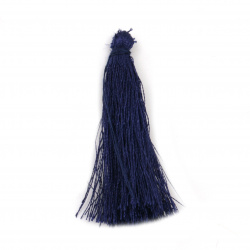 Fabric Tassel 50x5 mm color blue - 10 pieces