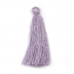 Fabric Tassel 50x5 mm color light purple - 10 pieces
