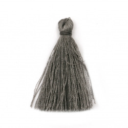 Fabric Tassel 50x5 mm color gray - 10 pieces