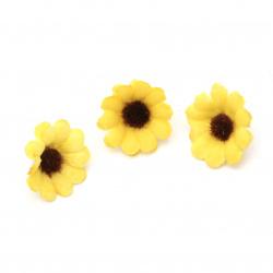 Floarea soarelui 30 mm cu boboc pentru instalare - 20 bucăți