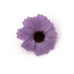 Flower daisy 35 mm with stump for installation  purple - 10 pieces