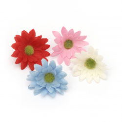 Flower daisy 45 mm with stump for installation  mix colors - 10 pieces