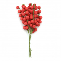 Flower twig styrofoam 20x150 mm color red -5 pieces
