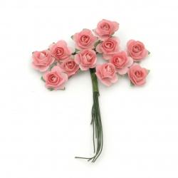Τριαντάφυλλα 18 mm ροζ -12 κομμάτια