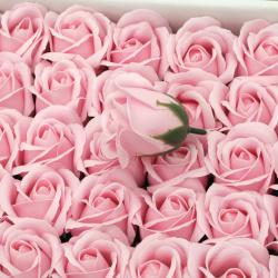 Сапунена роза 50 мм ароматна цвят розов