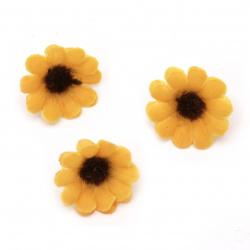 Culoare floarea-soarelui 30 mm cu boboc pentru montare culoare portocaliu - 20 bucăți