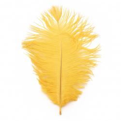 Перо щраусово 200~300 мм цвят жълт