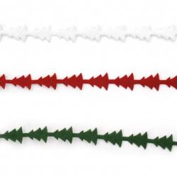 Υφασμάτινη αυτοκόλλητη κορδέλα 10 mm Χριστουγεννιάτικα ΜΙΞ -1,82 μέτρα
