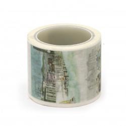 Декоративно тиксо хартия 30 мм сгради -5 метра