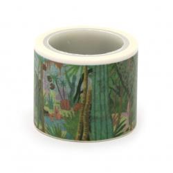 Декоративно тиксо хартия 30 мм природа -5 метра