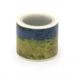 Декоративно тиксо хартия 30 мм пейзаж -5 метра