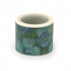 Декоративно тиксо хартия 30 мм цветя -5 метра