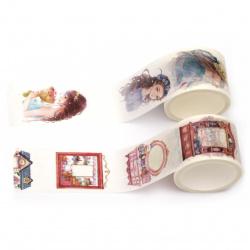 Декоративно тиксо хартия 30 мм Washi Tape YD МИКС 5 метра -1 брой