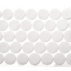 Circle of velcro 20 mm color white -20 pieces