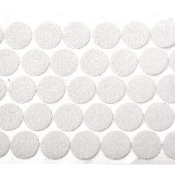 Cercul de velcro 20 mm culoare alb -20 de bucăți