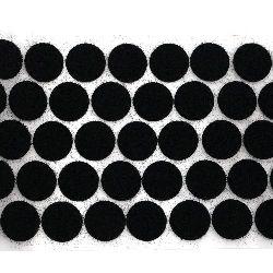 Кръг от велкро 20 мм цвят черен -20 броя