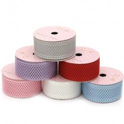 Κορδέλα σατέν δίχτυ 36 mm διάφορα χρώματα -1,80 μέτρα