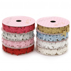 Ribbon satin for  baby accessories 15 mm assorted colors -1.80 meters