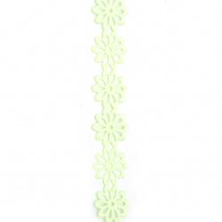 Лента сатен цвете 40 мм цвят зелен светъл -3 метра