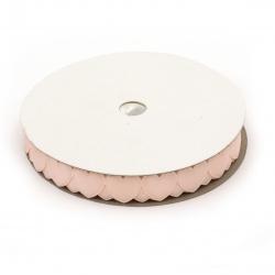 Σατέν κορδέλα 18 mm καρδιές ανοιχτό ροζ -3 μέτρα