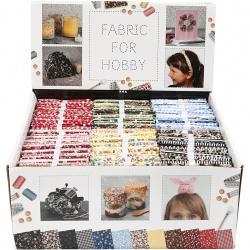 Памучен плат за пачуърк и хоби проекти 45x55 см 4 дизайна в пакет