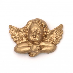 Figurine polyresin angel 24x33x10 mm color copper - 2 pieces