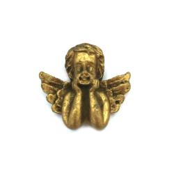 Фигурка полирезин ангелче 24x33x10 мм цвят мед - 2 броя