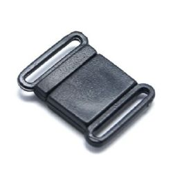 Plastic clasp 22x18 mm hole 1x14 mm black -10 pieces