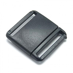 Plastic clasp 30x29 mm hole 2x24 mm black -5 pieces