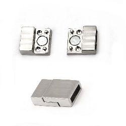 Закопчалка магнитна 13.5x20 мм цвят сребро