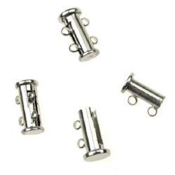 Закопчалка магнитна 15x10x7 мм две части две уши цвят сребро