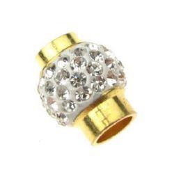 Закопчалка магнитна тип шамбала 16x13 мм цвят злато