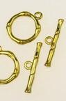 Закопчалка метална две части кръг 17x20.5 мм , 26x6.5 мм дупка 2 мм цвят злато -5 комплекта