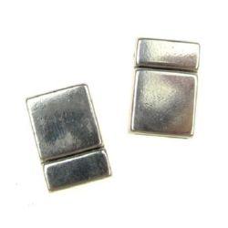 Закопчалка метална магнитна 21x14x6 мм дупка 10x2.7 мм цвят сребро -1 комплект