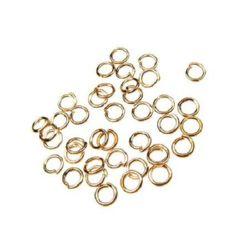 Халка метал 7x4 мм цвят злато розово -200 броя