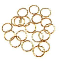 Халка метал 10x8 цвят злато розово -200 броя
